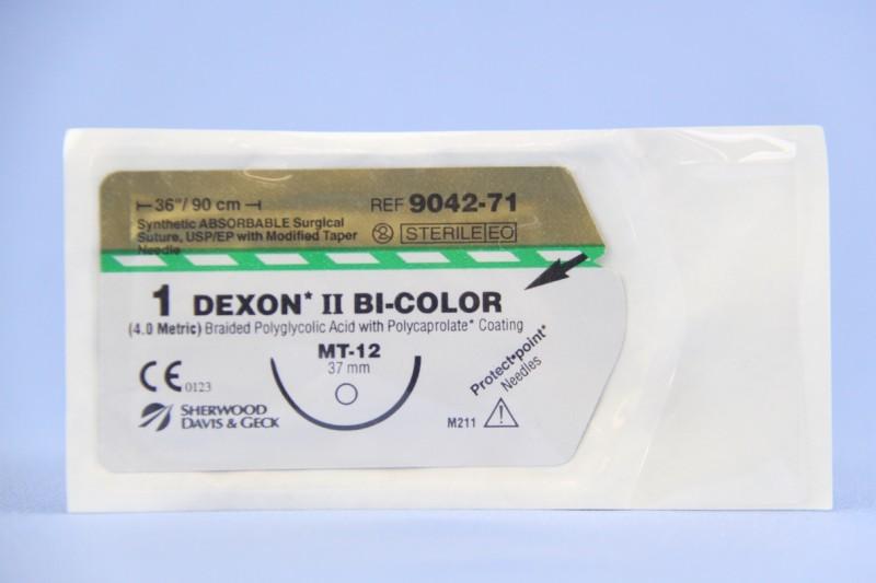 Covidien Suture, 9042-71, 1, Dexon II Bi-Color 36