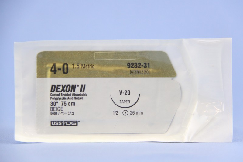 Covidien Suture, 9232-31, 4-0, Dexon II beige 27