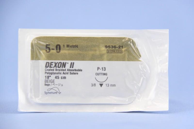 Covidien Suture, 9536-21, 5-0, Dexon II beige 18