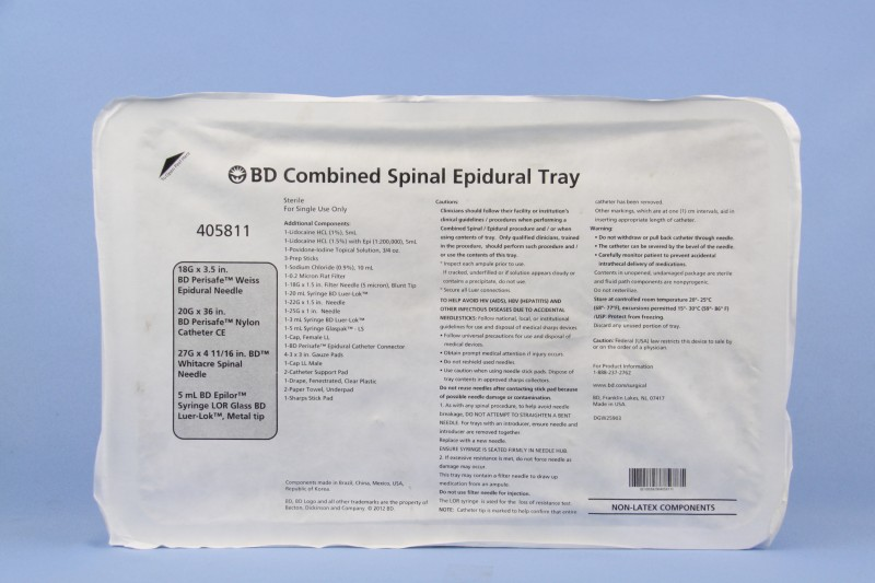 Becton-Dickinson, 405811, BD Combined Spinal Epidural Tray - eSutures