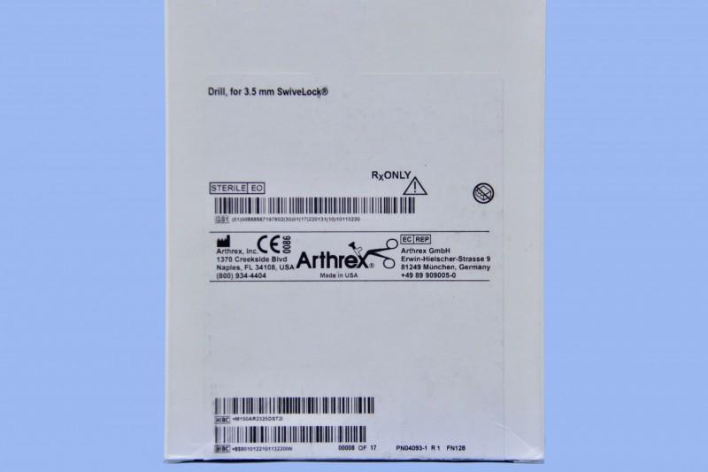 Arthrex, AR-2325D-ST, Arthrex Drill for 3 5mm SwiveLock